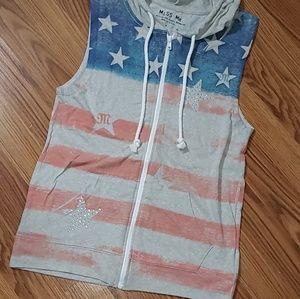 Miss Me zip-up thin hoodie.